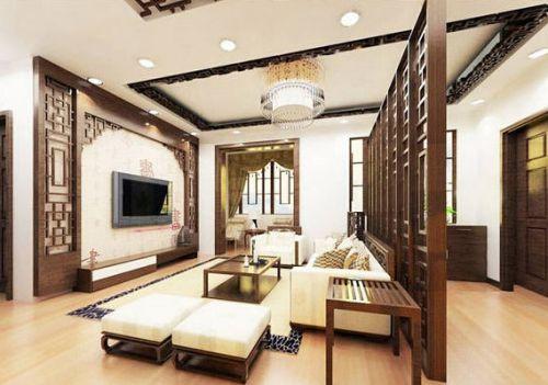 雅致中式风格客厅飘窗设计图片