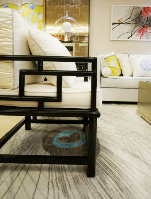 中式风格清新米色客厅装修效果图片