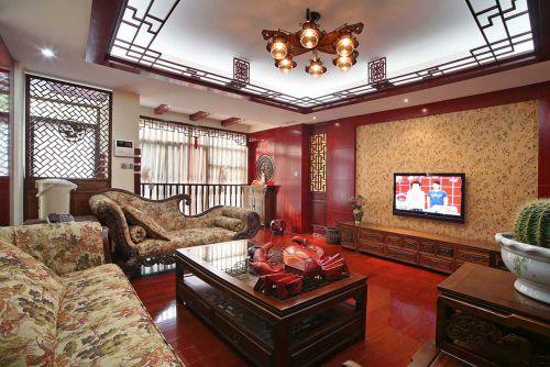 华丽豪华中式风格客厅装修效果图