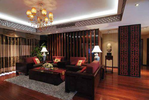 中式华美客厅装潢设计