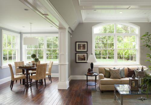清爽自然欧式田园风格客厅装潢设计