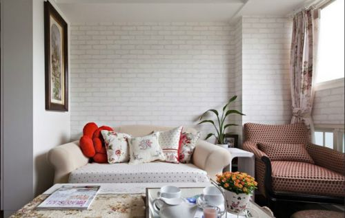 田园白色客厅美图欣赏