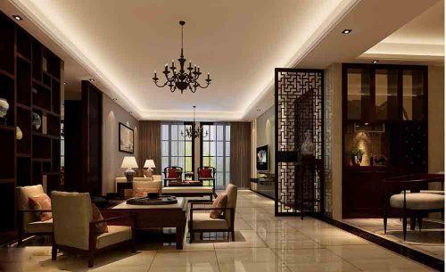 时尚雅致中式客厅设计装饰