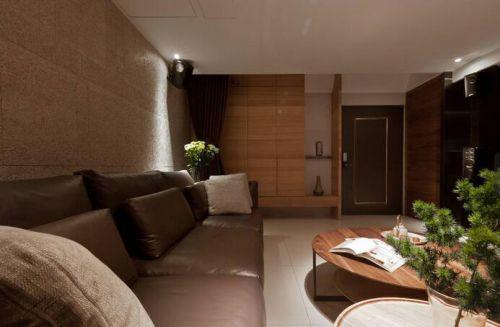原木色新中式客厅装修设计