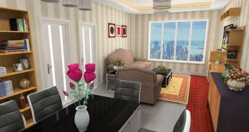 米色中式风格客厅美图欣赏
