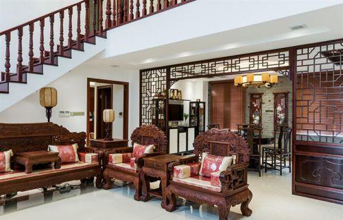 中式雅致客厅装修图片
