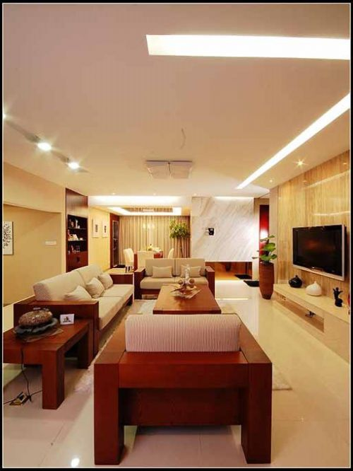 温润造型中式客厅装潢设计