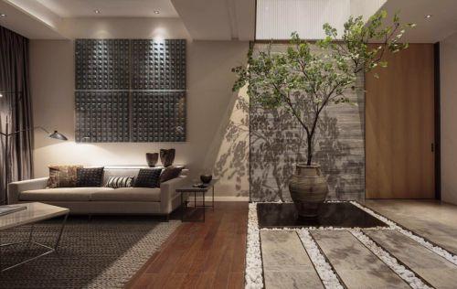 中式典雅自然韵味客厅装潢效果图