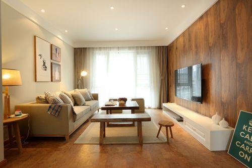 宜家风格清新黄色客厅装修设计