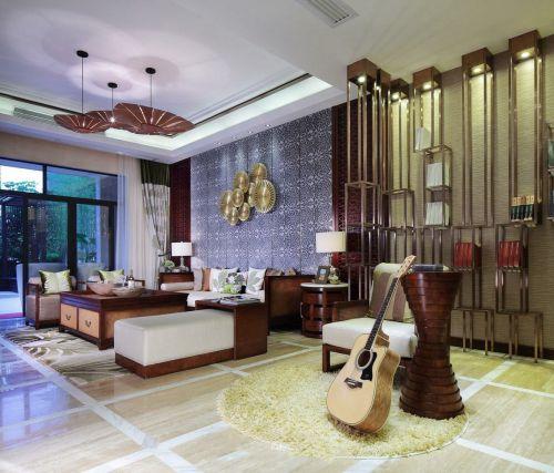 东南亚风格客厅装修图片