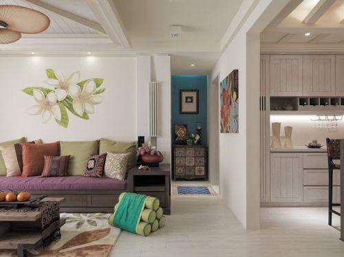 2018米色东南亚客厅设计欣赏