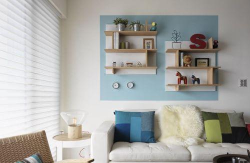 简约宜家舒适沙发背景墙设计