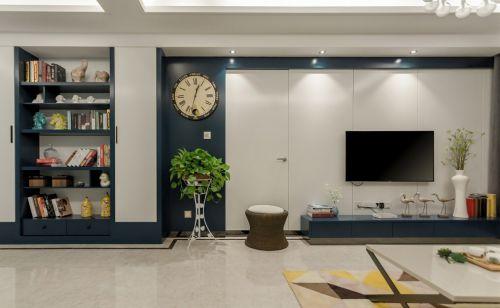 简约精致客厅电视背景墙设计