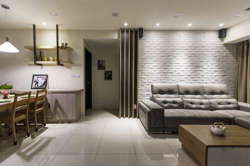 简约雅致现代风格灰色客厅设计装潢