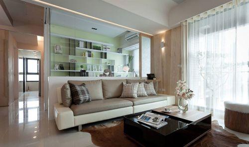 绿色简约客厅装潢设计