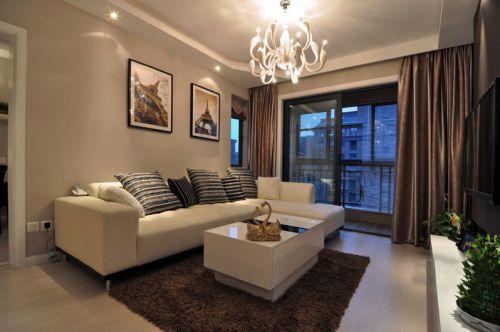 褐色简约客厅设计图