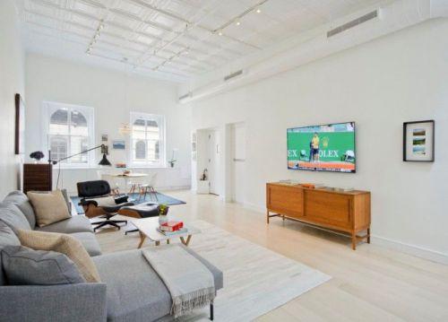 白色极致简约客厅装修设计美图2018