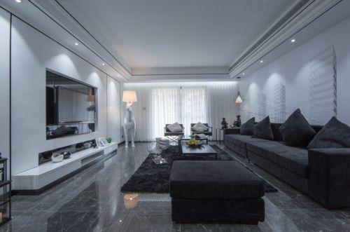 极致简约风白色客厅装修设计图