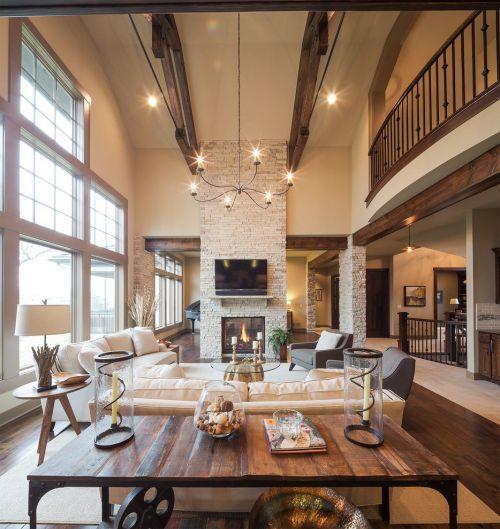 简约风格舒适米色客厅装饰设计图片