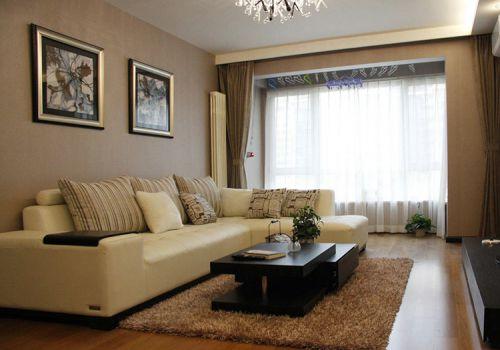 客厅简约窗帘美图