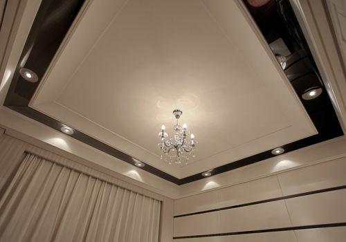 纯白客厅吊顶装修设计
