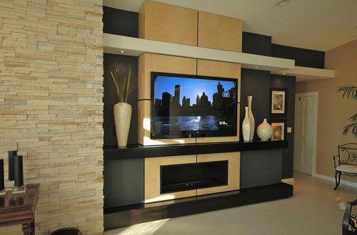 简约都市温馨电视背景墙设计装修