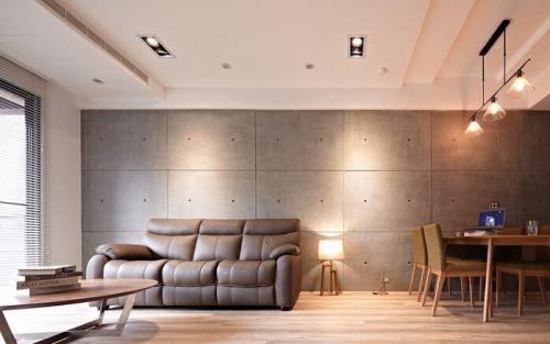 简约风格三居室背景墙大气装潢