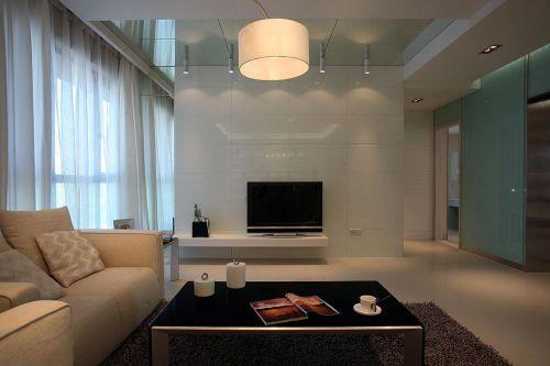 现代简约装修客厅电视背景墙设计