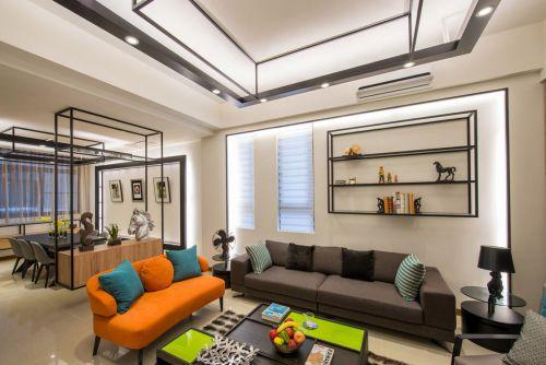 2018个性简约风格客厅吊顶装修布置