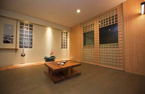 简约日式客厅榻榻米设计效果图