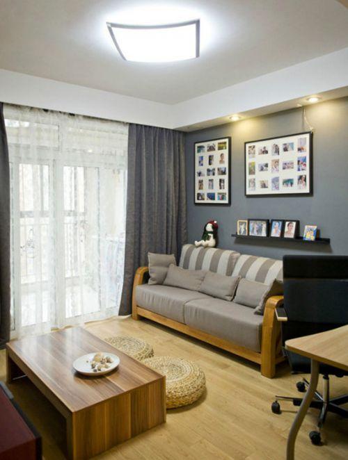 简约风格客厅实用照片墙装修设计