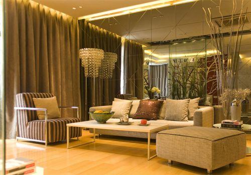 时尚现代客厅背景墙设计