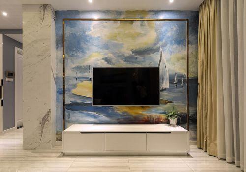 抽象现代电视背景墙欣赏