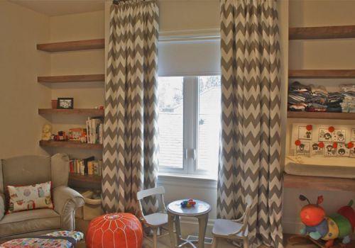 现代条纹窗帘设计美图