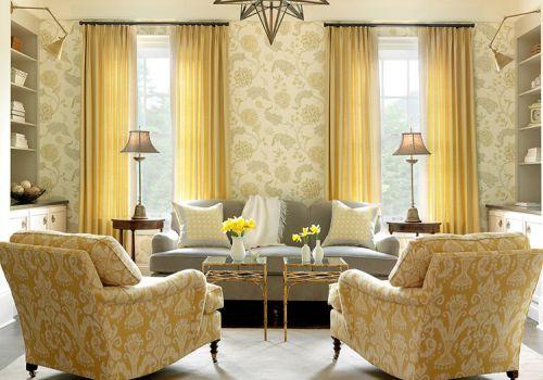 现代雅致窗帘装修设计图