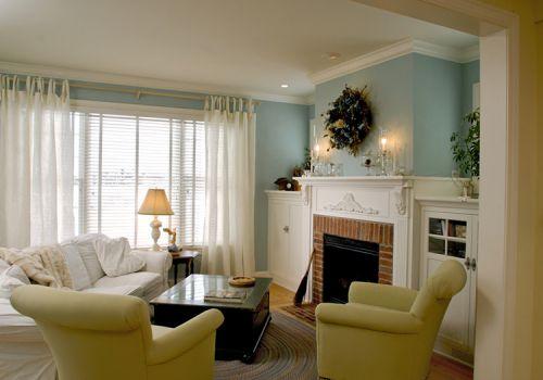 现代客厅薄纱窗帘美图欣赏