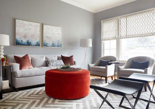 现代铁丝纹窗帘设计美图