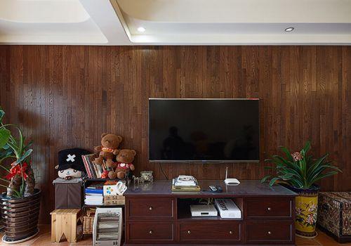 纯实木简约背景墙设计