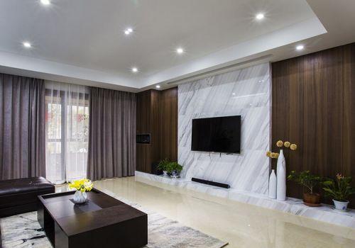 大理石现代客厅背景墙欣赏