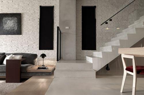 米色现代风格客厅楼梯装修案例