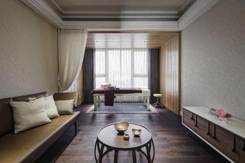 现代风格白色客厅飘窗设计图