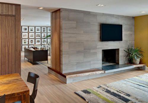 现代雅致简洁时尚客厅电视背景墙设计