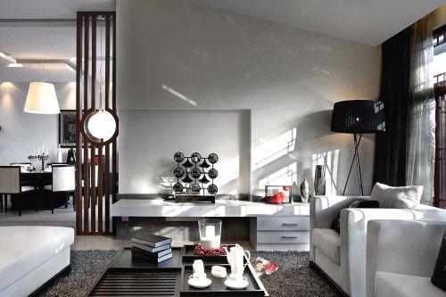 精致现代风格客厅背景墙展示