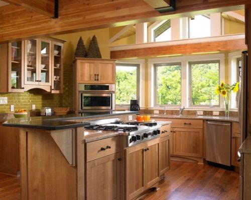 原木色厨房设计欣赏