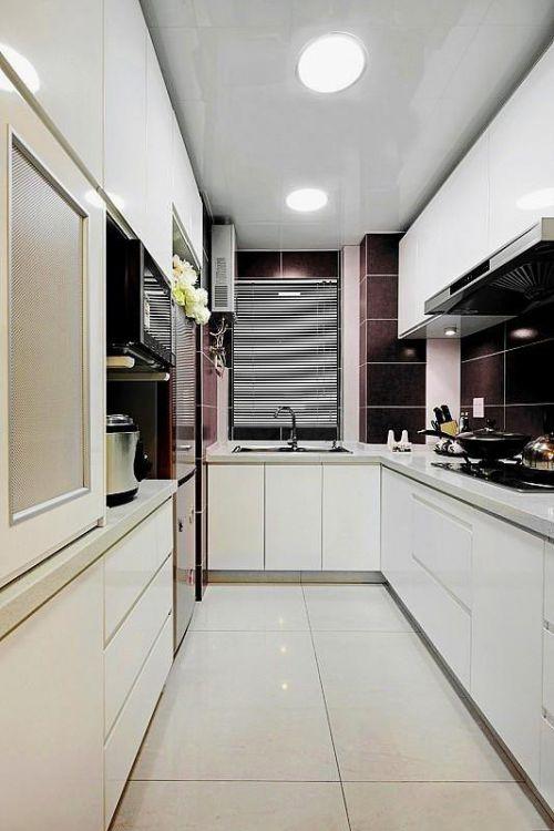 现代简约田园厨房装修图