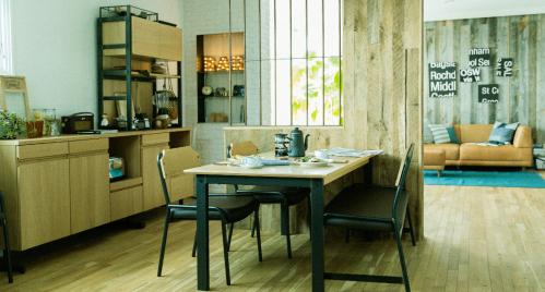日式厨房背景墙设计案例