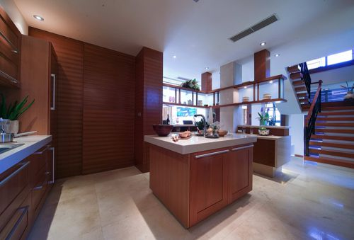 中式厨房复式楼装修案例