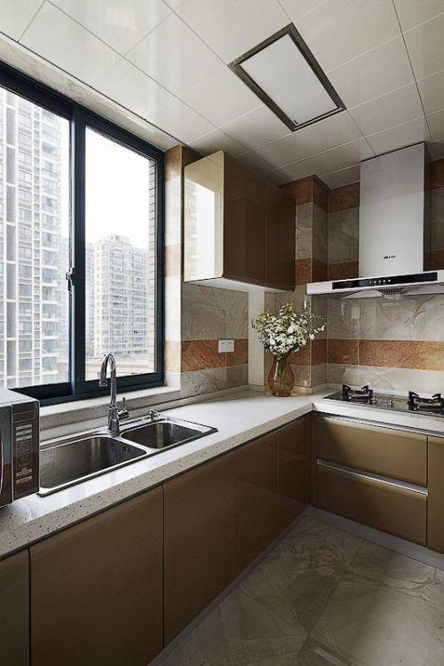 现代简约中式厨房案例展示