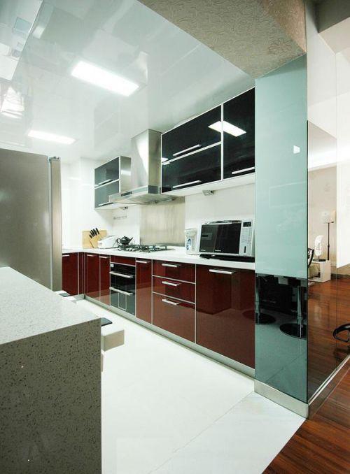 现代简约中式厨房设计案例
