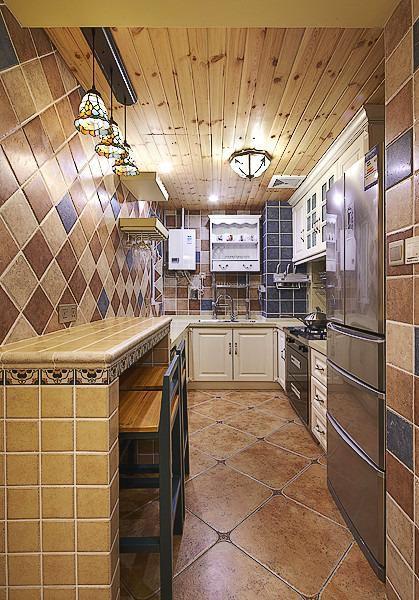 地中海美式厨房图片